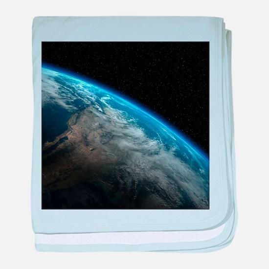 EARTH ORBIT baby blanket