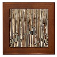 Deer Crossing Framed Tile
