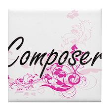 Composer Artistic Job Design with Flo Tile Coaster