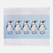 Cute Penguins are cool Throw Blanket