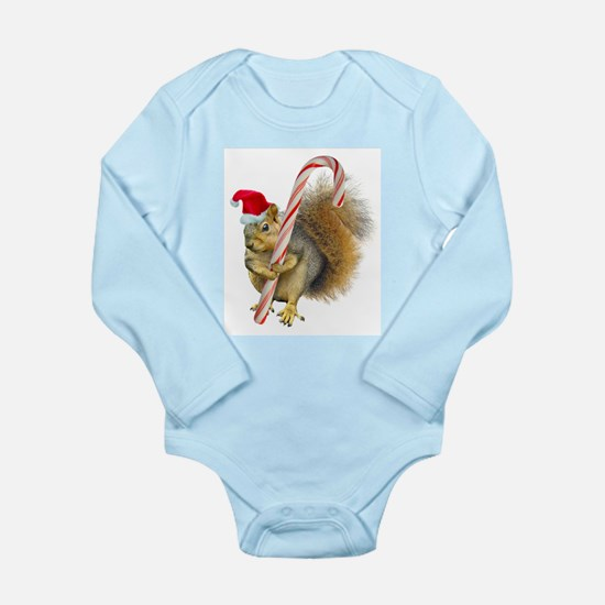 Squirrel Candy Cane Body Suit