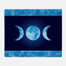 Three Phase Moon Throw Blanket