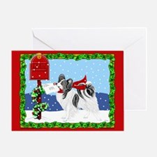 Christmas Papillon Mail Bicolor Greeting Card