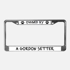 Owned by a Gordon Setter License Plate Frame