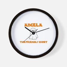 Angela the Friendly Ghost Wall Clock