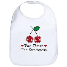 Doubly Sweet Cherry Twin Bib