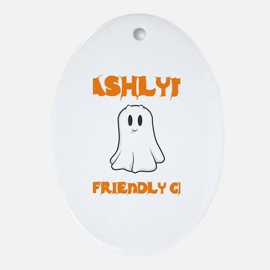 Ashlyn the Friendly Ghost Oval Ornament
