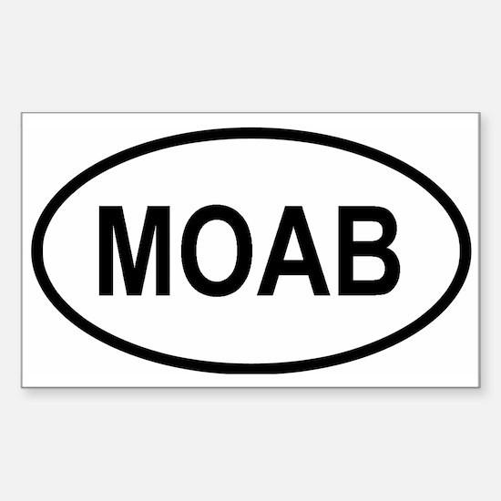 Unique Moab utah Sticker (Rectangle)