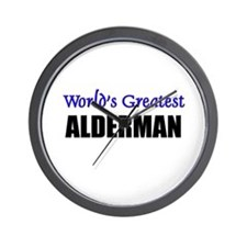 Worlds Greatest ALDERMAN Wall Clock