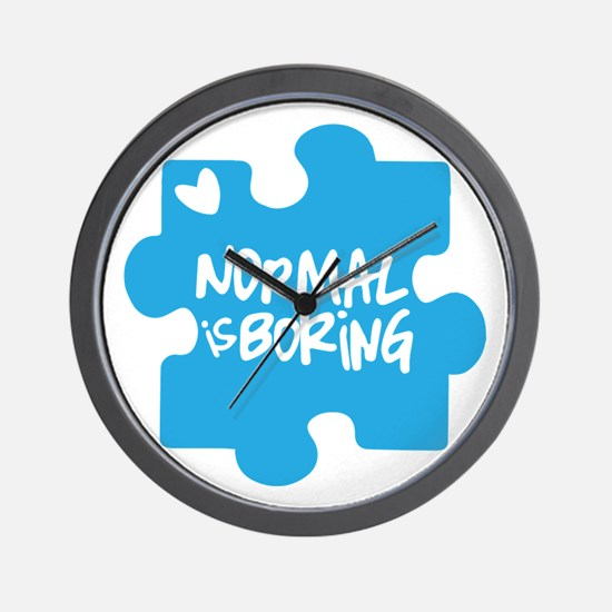 Normal Is Boring Wall Clock