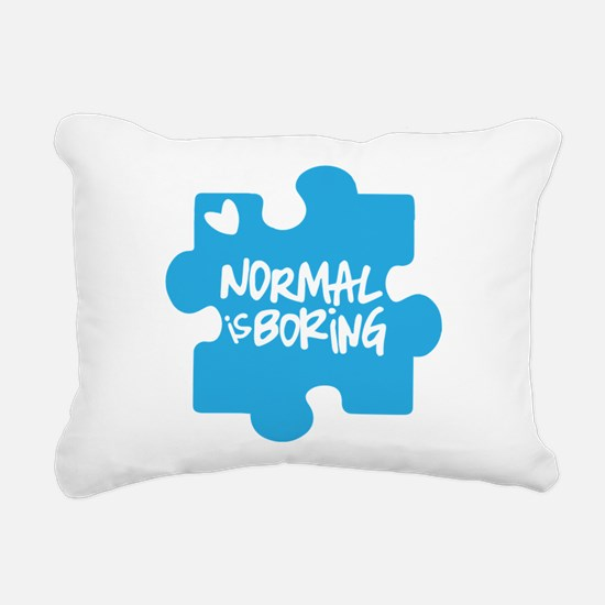 Normal Is Boring Rectangular Canvas Pillow