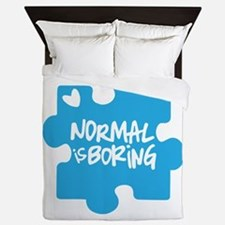 Normal Is Boring Queen Duvet