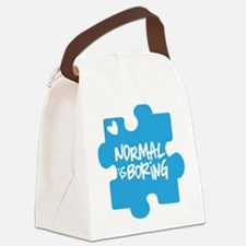 Normal Is Boring Canvas Lunch Bag