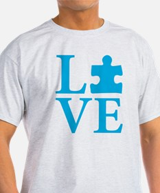 Autism Love, Blue Puzzle Piece T-Shirt