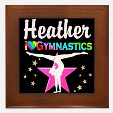SPARKLING GYMNAST Framed Tile