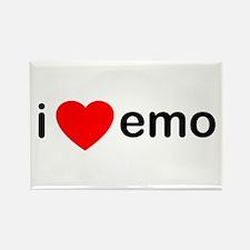 I Heart Emo Rectangle Magnet