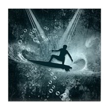 Surfboarder Tile Coaster