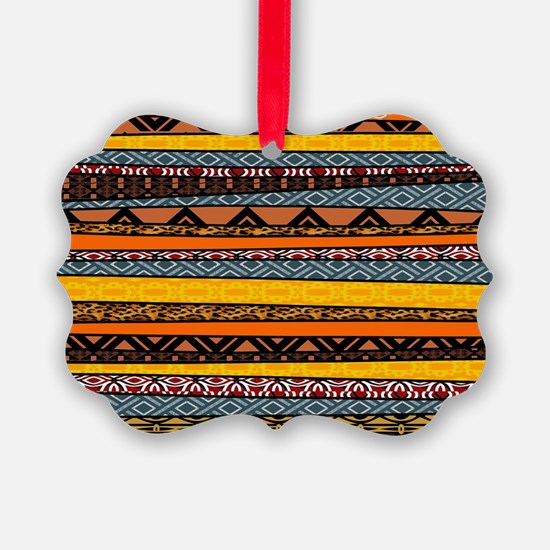 African Pattern Mix Ornament