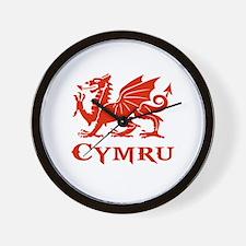 cymru wales welsh cardiff dragon Wall Clock