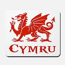 cymru wales welsh cardiff dragon Mousepad