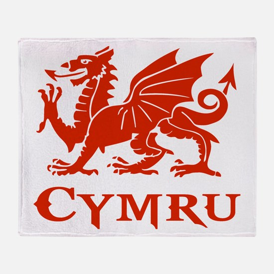 cymru wales welsh cardiff dragon Throw Blanket