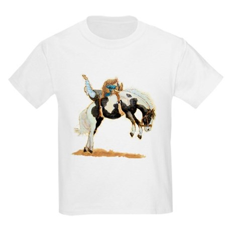 Bareback Bronc, Paint Kids Light T-Shirt