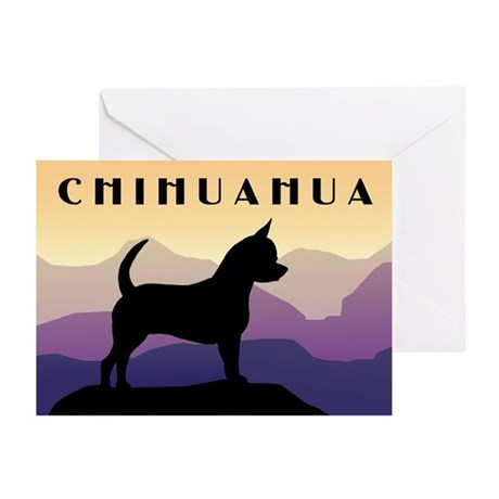 Chihuahua Purple Mountains Greeting Cards (Pk of 1