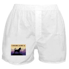 Chihuahua Purple Mountains Boxer Shorts