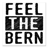 Feel the bern Square Car Magnets