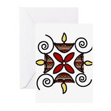 Rangoli Greeting Cards (Pk of 10)