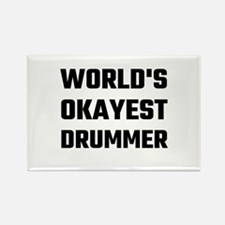 World's Okayest Drummer Magnets