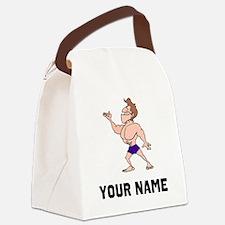 Bodybuilder Canvas Lunch Bag