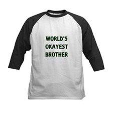 World's Okayest Brother Baseball Jersey