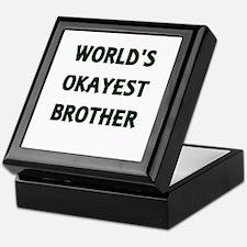 World's Okayest Brother Keepsake Box