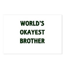 World's Okayest Brother Postcards (Package of 8)