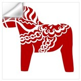 Dala horse Wall Decals