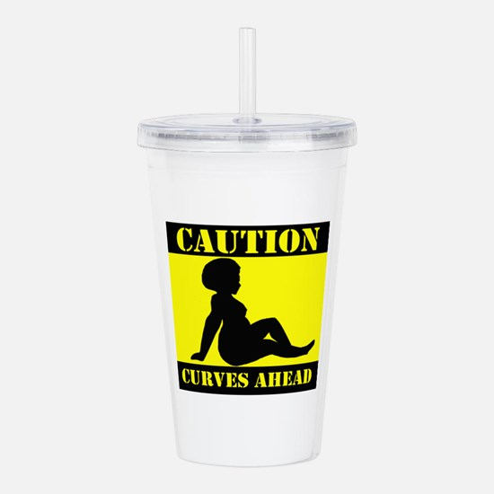Caution Curves Ahead Acrylic Double-wall Tumbler