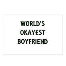 World's Okayest Boyfriend Postcards (Package of 8)