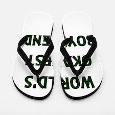 World's Okayest Boyfriend Flip Flops