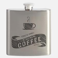 More Coffee (DARK) Flask