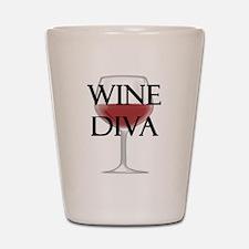 Wine Diva Shot Glass