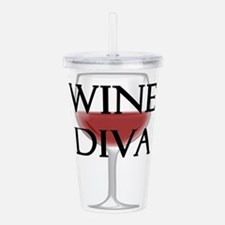 Wine Diva Acrylic Double-wall Tumbler