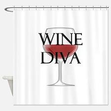 Wine Diva Shower Curtain
