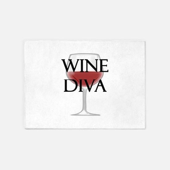 Wine Diva 5'x7'Area Rug