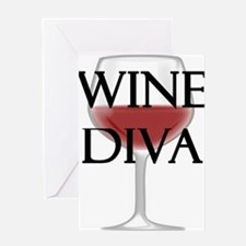 Wine Diva Greeting Cards