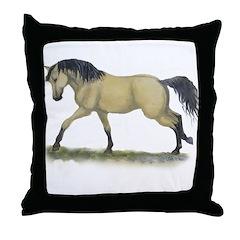 Buckskin Takin off Throw Pillow