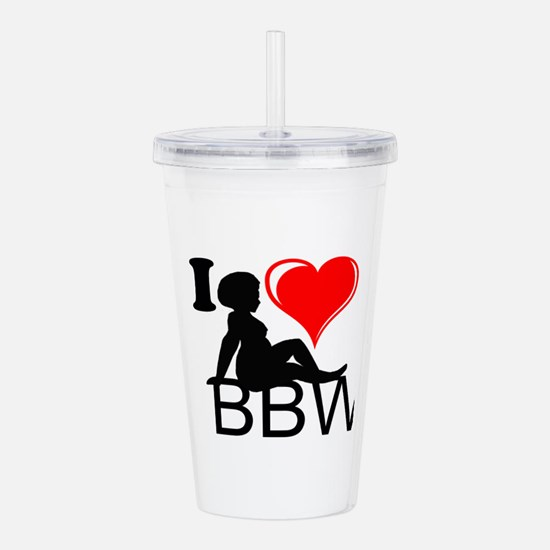 I Love BBW Acrylic Double-wall Tumbler