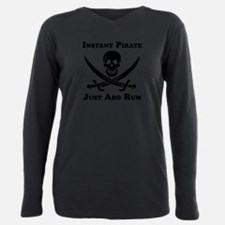 Classic Instant Pirate Plus Size Long Sleeve Tee