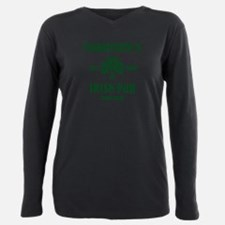 Personalized Irish Pub Plus Size Long Sleeve Tee