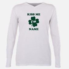 Cool Kiss me irish Plus Size Long Sleeve Tee